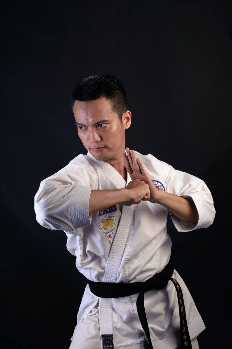 man in karate gi outfit